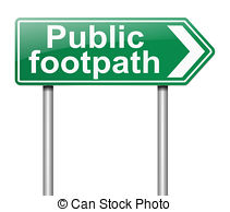 Pathway clipart footpath Tale Footpath Clipart sign a