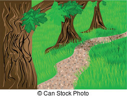 Pathway clipart footpath Trees and Clipart trees path