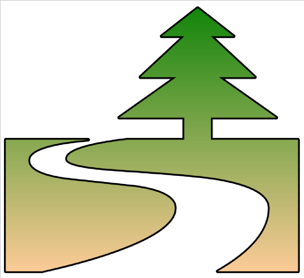 Pathway clipart footprint trail Trail Clipart Mountain