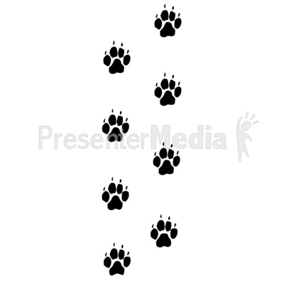 Wolf clipart dog tracks Clipart Footprints cliparts Trail Dog