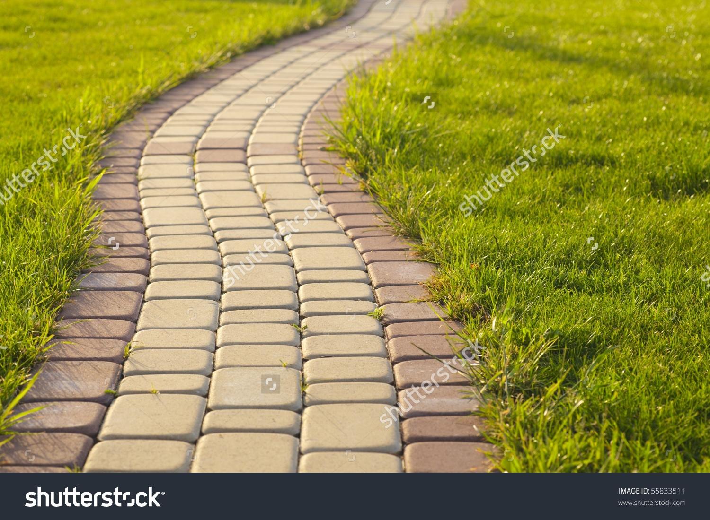 Pathway clipart garden path Grass (14+) clipart Pathways Stone