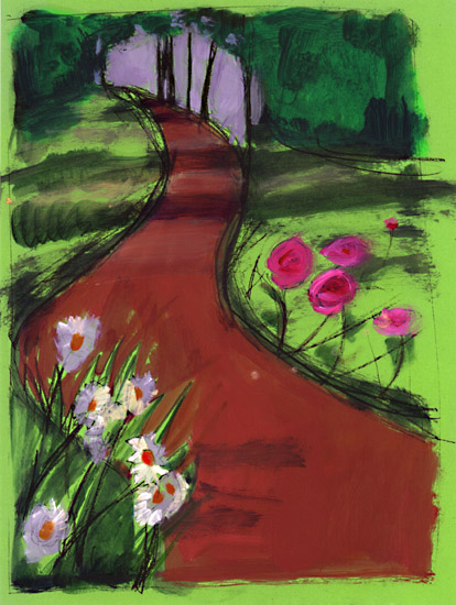 Pathway clipart garden path Vector 8847 and Favorite com
