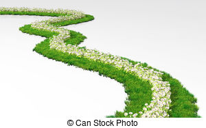Pathway clipart garden path Grassy made grass path with