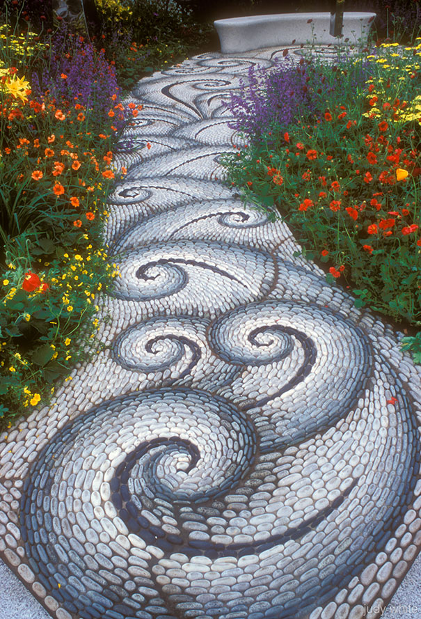 Pathway clipart garden path Rivers Panda pebble paths That