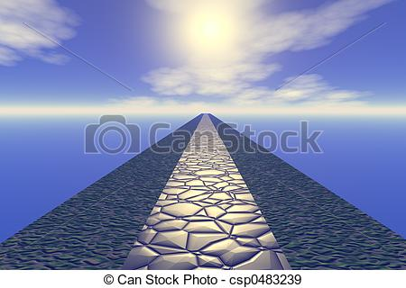 Pathway clipart heaven clipart To way csp0483239 heaven Illustration