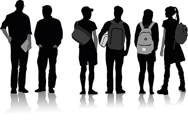 Pathway clipart high school student School black clipart collection white