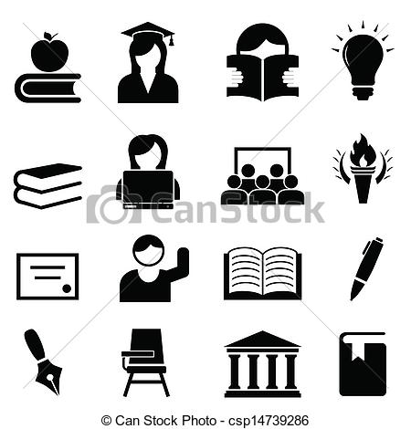 Pathway clipart higher education  College Stock icon Higher