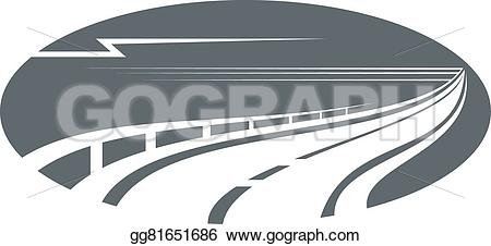 Highway clipart pathway Rail gray or with an