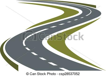 Freeway clipart journey path Road Winding Modern highway Winding