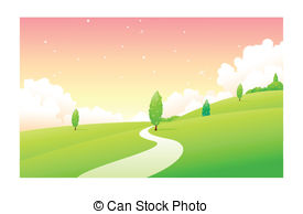 Pathway clipart land Art of  path Clip