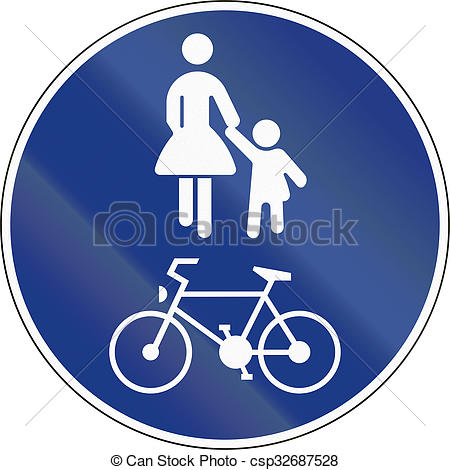 Pathway clipart lane In of Shared Shared Path