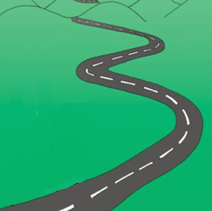 Road clipart winding path #4