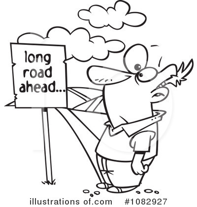 Pathway clipart long road By toonaday Illustration toonaday Illustration
