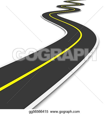 Pathway clipart long road Road clipart Stock Winding Illustrations