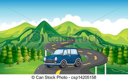 Pathway clipart mountain road Mountain Art Winding Download –