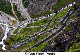 Pathway clipart mountain road Picture Norwegian tortuous Trollstigen Famous