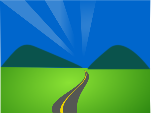 Pathway clipart mountain road Art Clker Free pw Art