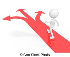 Pathway clipart multiple path Stock arrow 3 and Art