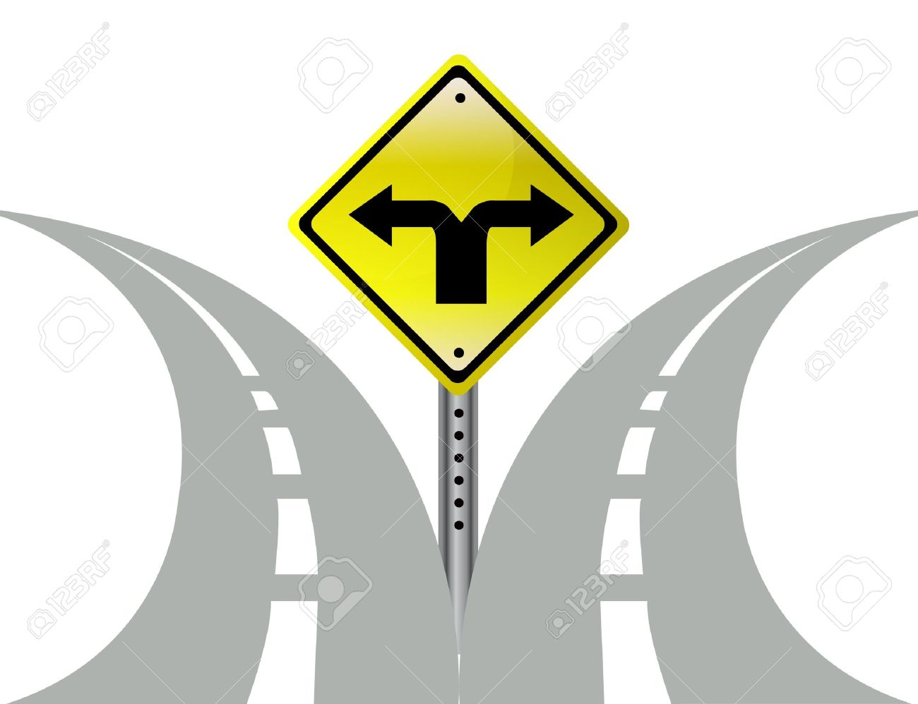 Pathway clipart multiple path Cliparts Decision Two Clipart Decision
