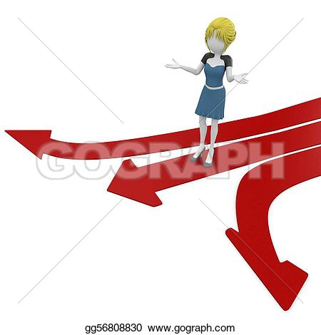 Pathway clipart multiple path Paths arrow Stock multiple Free