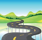 Road clipart narrow road Path Clip A Narrow narrow