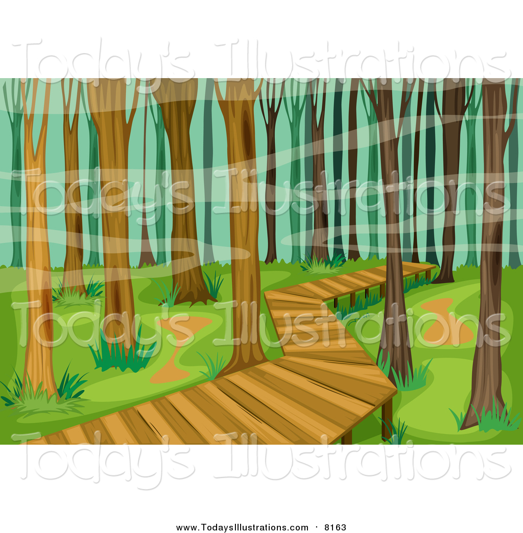 Pathway clipart nature trail Royalty of Royalty New New