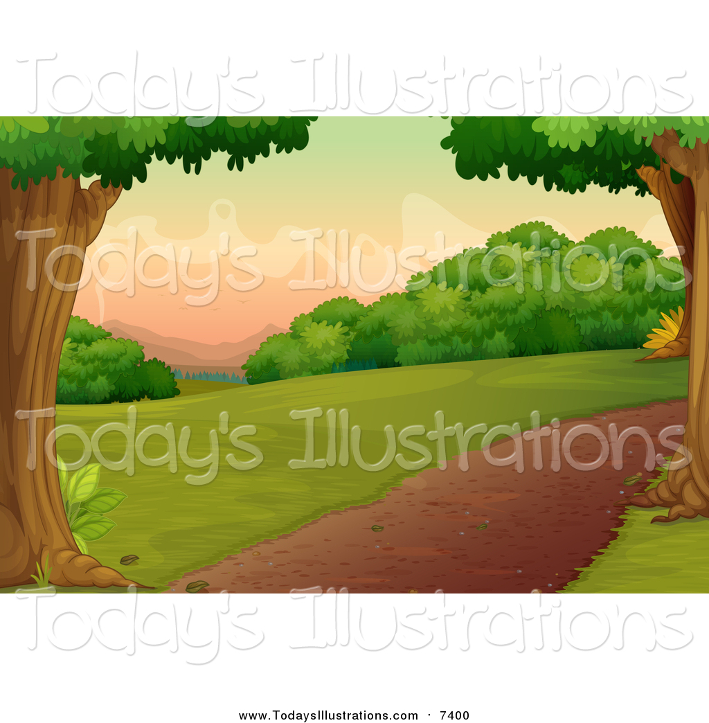 Pathway clipart nature trail Path a Clipart a Tree