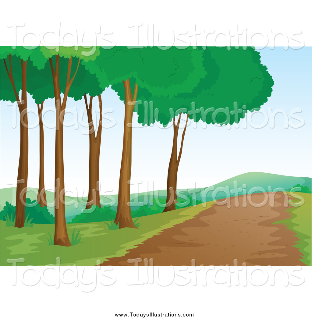 Pathway clipart nature trail Of and Clipart Trail Nature