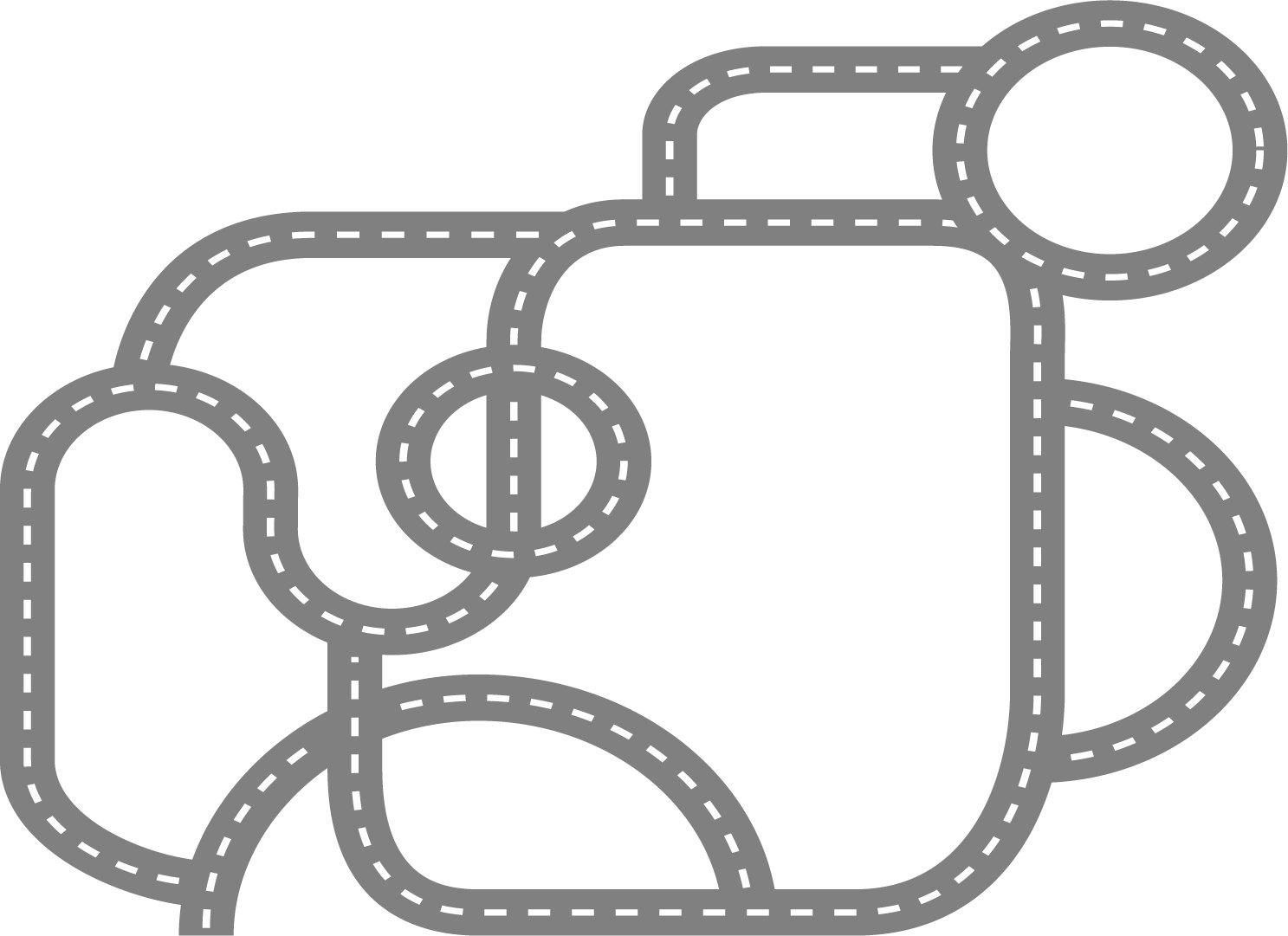 Roadway clipart race track road Car Etsy Wall race track