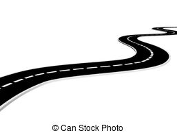 Freeway clipart journey path Art Stock Clip and 132