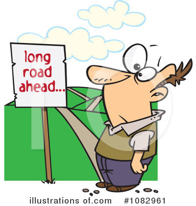 Pathway clipart road ahead (RF) toonaday Clipart Illustration by