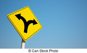 Pathway clipart road ahead Traffic Forked isolated Clip
