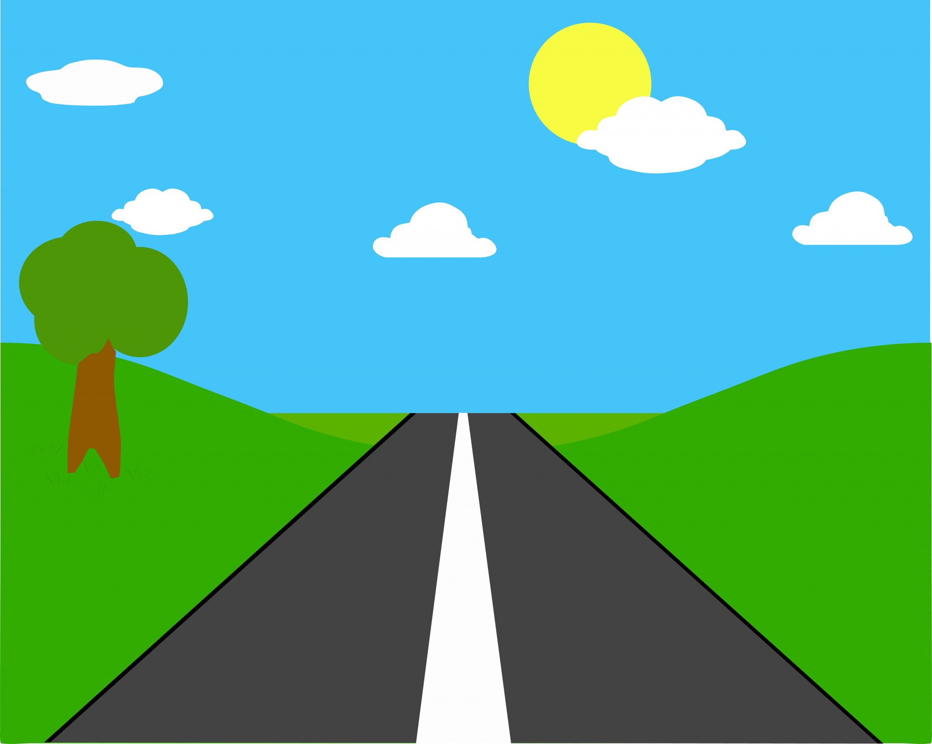 Pathway clipart road background Straight with Clipart Road Clipart