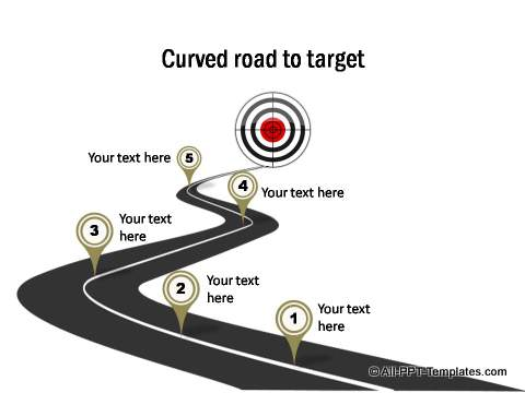 Pathway clipart road milestone 13 with target Roadmap road