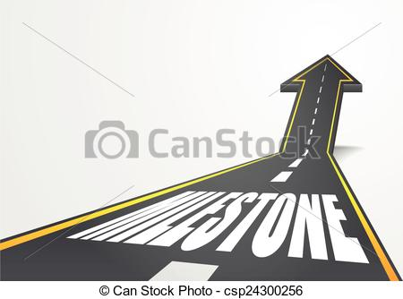 Pathway clipart road milestone Of Clipart milestone illustration milestone