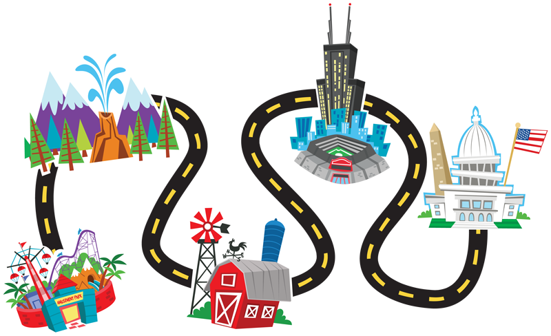 Highway clipart road map And Roadmap Cliparts Art Clipart