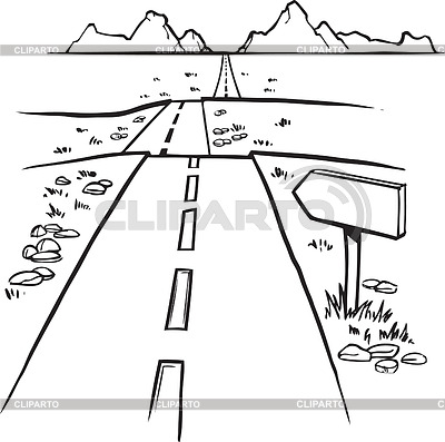 Drawn road black and white Images Panda Clipart distance%20clipart Clipart
