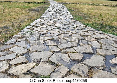 Walkway clipart stone path Clip – Stone Clipart Path