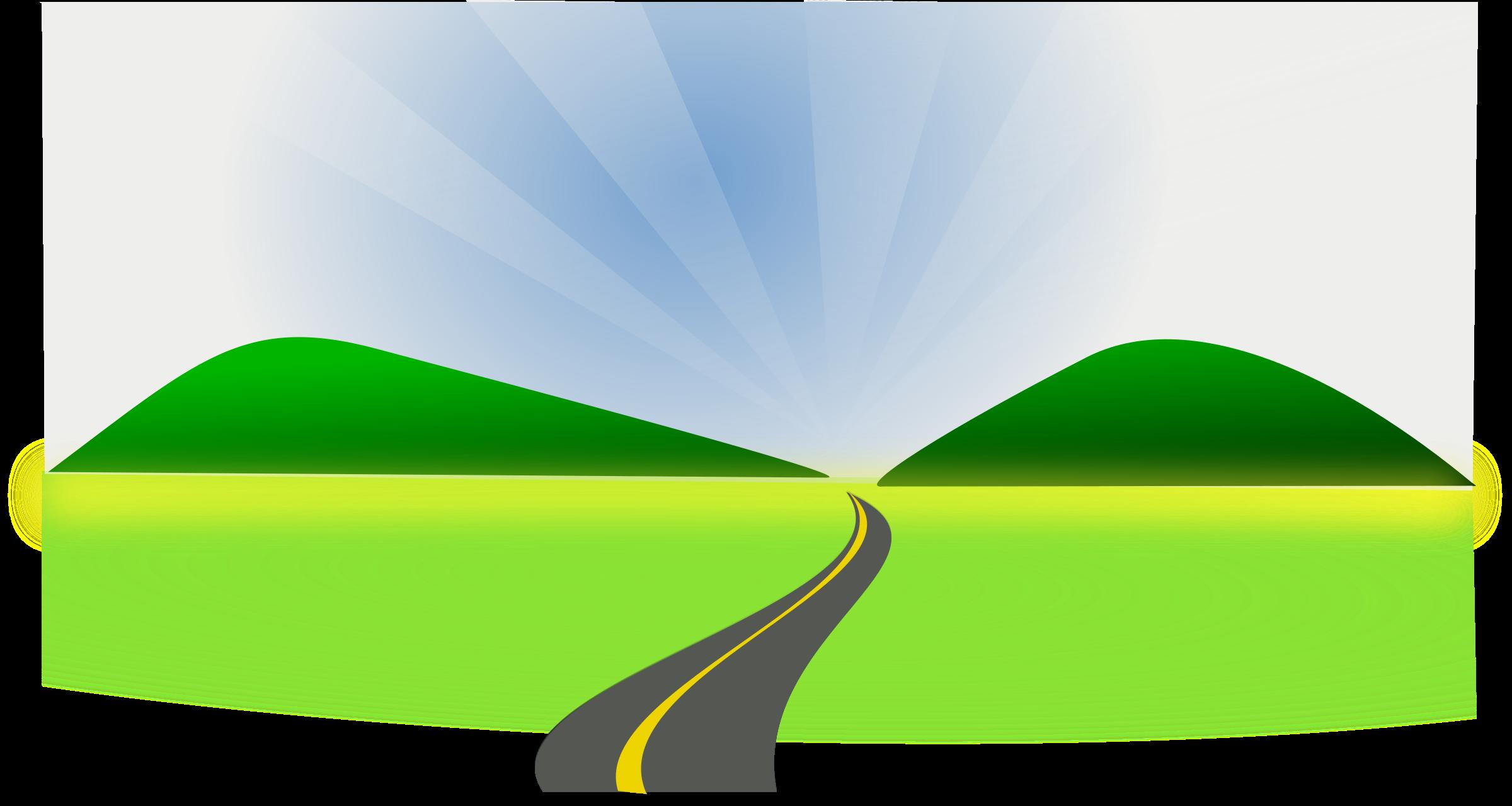 Road clipart open road #6