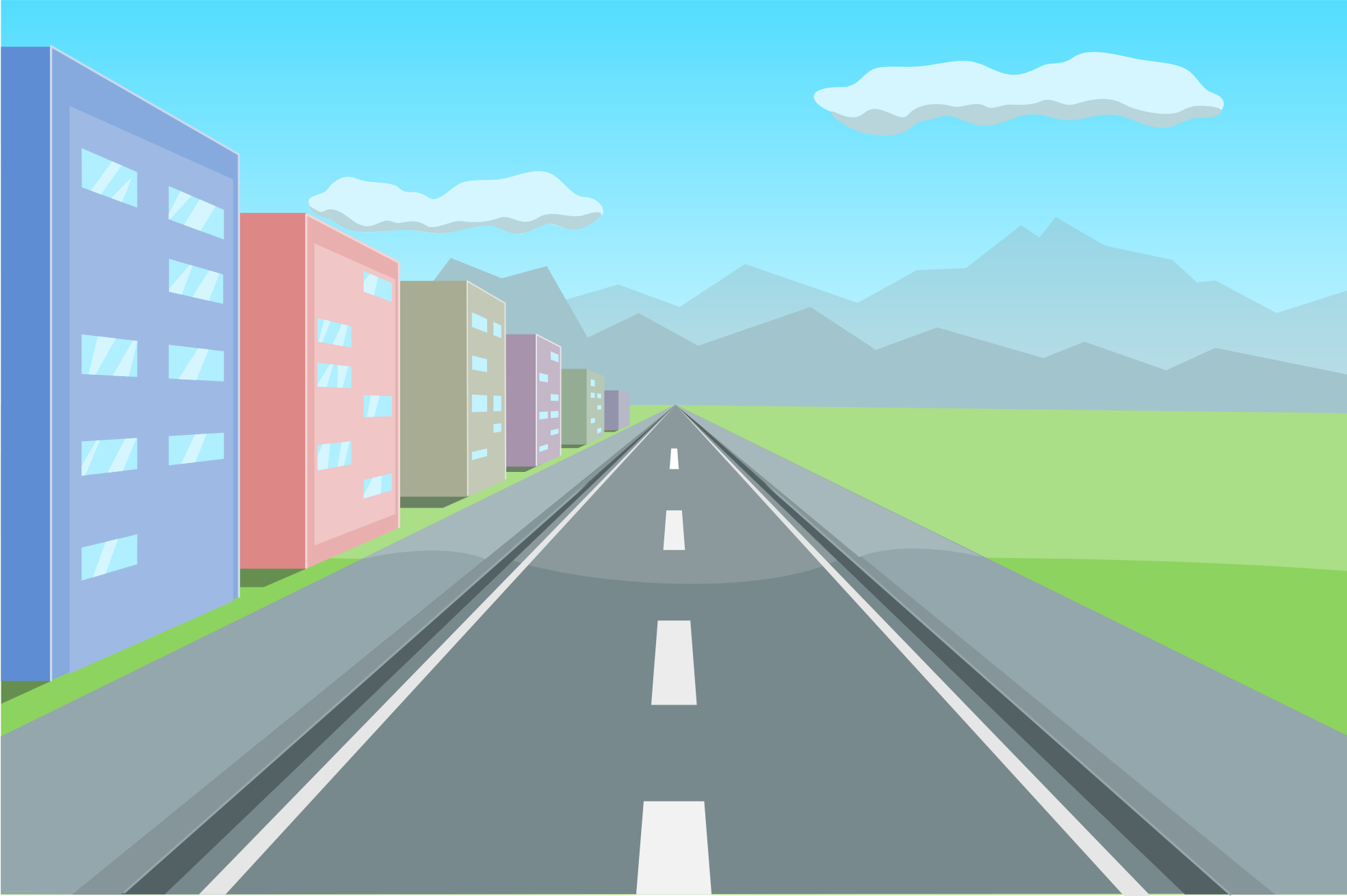 Pathway clipart straight road High Winding Straight : Wallpaper