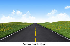Pathway clipart straight road 2 road and Straight
