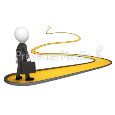 Pathway clipart success Presentation  Clipart Man On