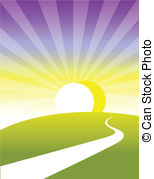 Pathway clipart background Clip Curved Horizon path and