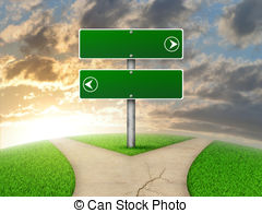 Pathway clipart two road Road and Crossroads sign Forked