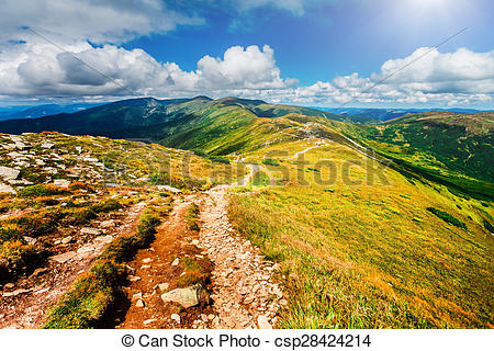 Pathway clipart valley landform Stock of csp28424214 Photography in