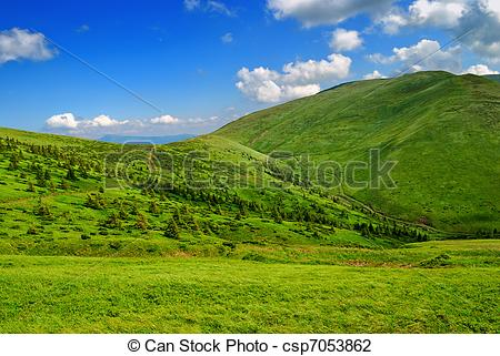 Pathway clipart valley landform With Stock and valley blue