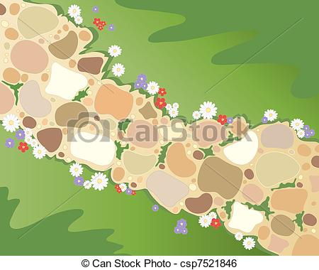 Pathway clipart walkway Path  cobbled 362 Art