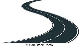 Curve clipart winding path Traveling Winding Drawings