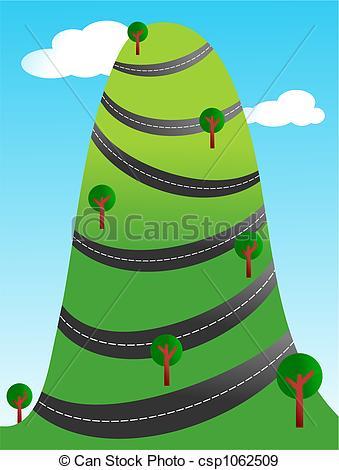 Highway clipart windy road Winding winding road around winding