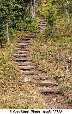 Pathway clipart winding trail Steps Stock  A Photo